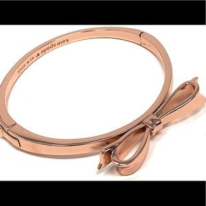 NEW Kate Spade love notes bangle in rose gold